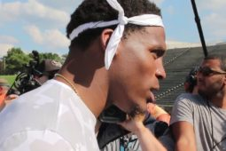 Cam Newton Discuss Why He Chooses Kickball For Kids