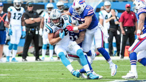 Panthers Place TE Olsen on IR; Sign FB Armah to Active Roster