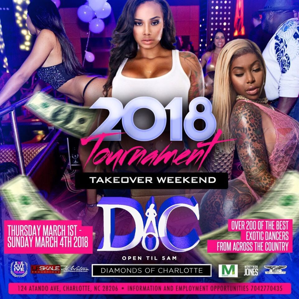 DIAMONDS OF  CHARLOTTE STRIP CLUB HEADQUARTERS CIAA WEEKEND MARCH1ST-MARCH4TH